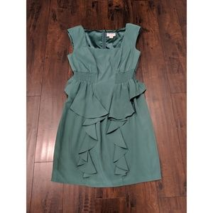 Jessica Simpson Green Peplum Dress (12)